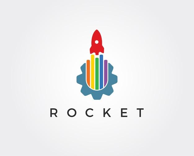 Raketenausrüstung logo vorlage