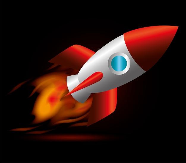 Raketenentwurf.