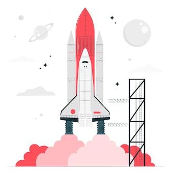 Raketenkonzeptillustration