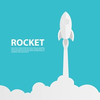Raketenpapier kunst