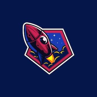 Raketenraum stern auf planet raumschiff