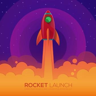 Raketenstart design.