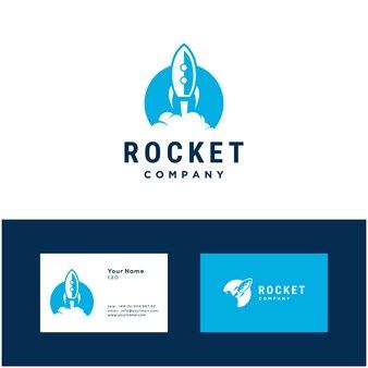 Raketenstart illustration logo design-vorlage