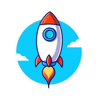 Raketenstart-illustration