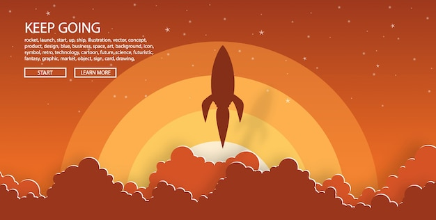 Raketenstart in den himmel