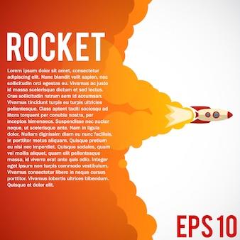 Raketenstart-symbol.