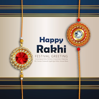 Rakhi design für happy raksha bandhan
