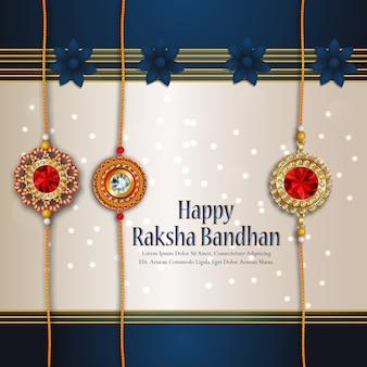 Rakhi kartenentwurf für glückliche raksha bandhan feier