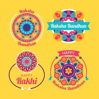 Raksha bandhan abzeichen gesetzt