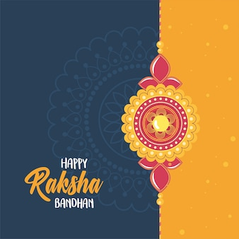 Raksha bandhan, armband der liebe brüder und schwestern indisches festival