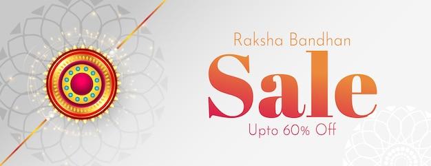 Raksha bandhan festival verkaufsbanner mit dekorativem rakhi