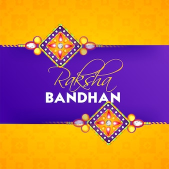 Raksha bandhan grußkarte design