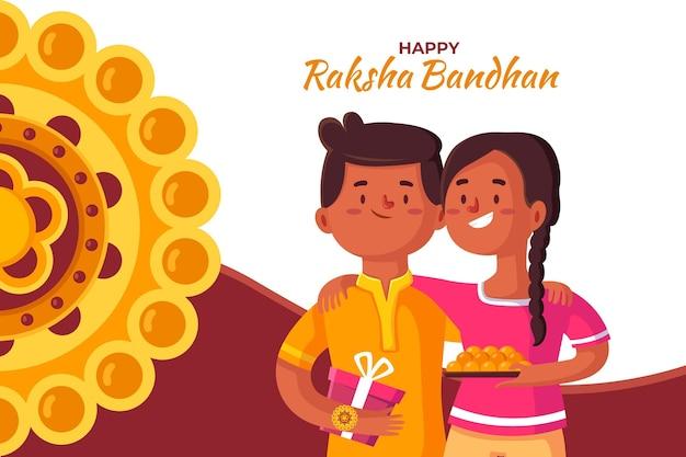 Raksha bandhan hintergrundkonzept