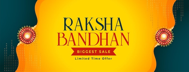 Raksha bandhan schönes verkaufsbanner-design