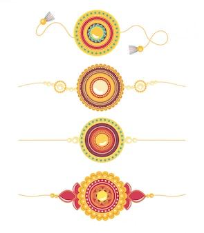 Raksha bandhan, traditionelle armbänder kreative beziehung brüder und schwestern indianer