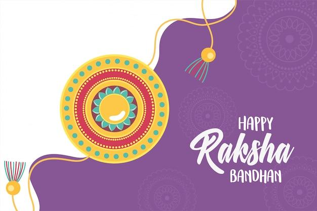 Raksha bandhan, traditionelles armband der indischen brüder und schwestern der liebe