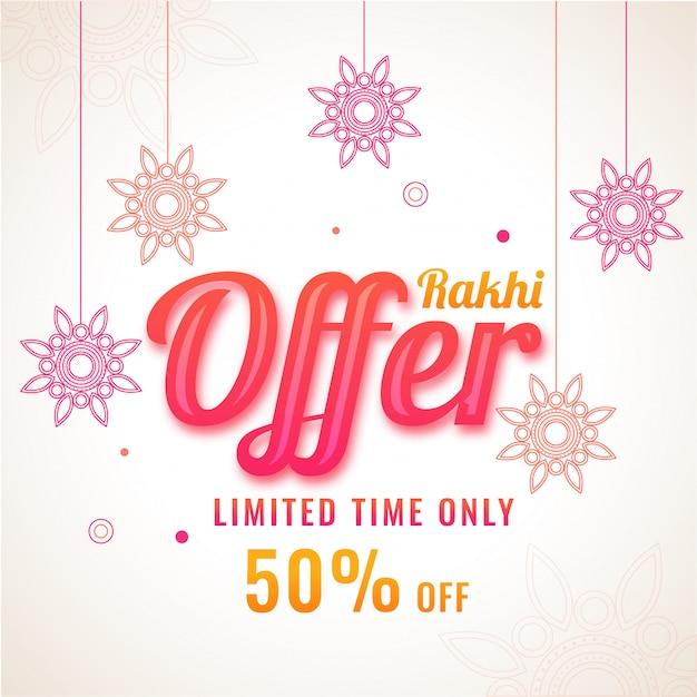 Raksha bandhan verkauf banner oder flyer design