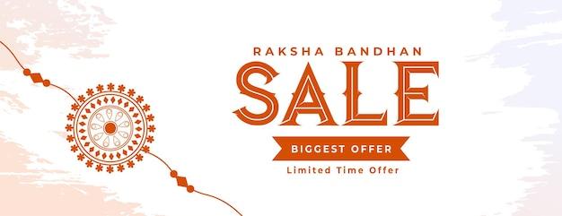 Raksha bandhan verkaufsfahne mit handgezeichnetem rakhi