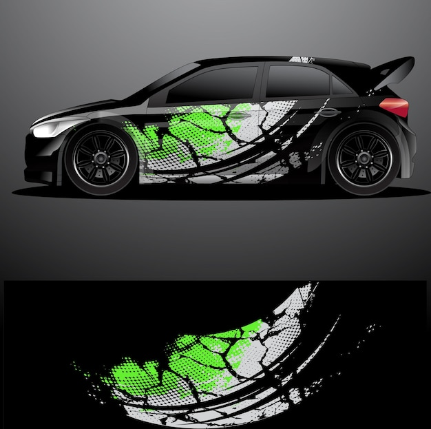 Rallye aufkleber grafik wrap abstraktes design