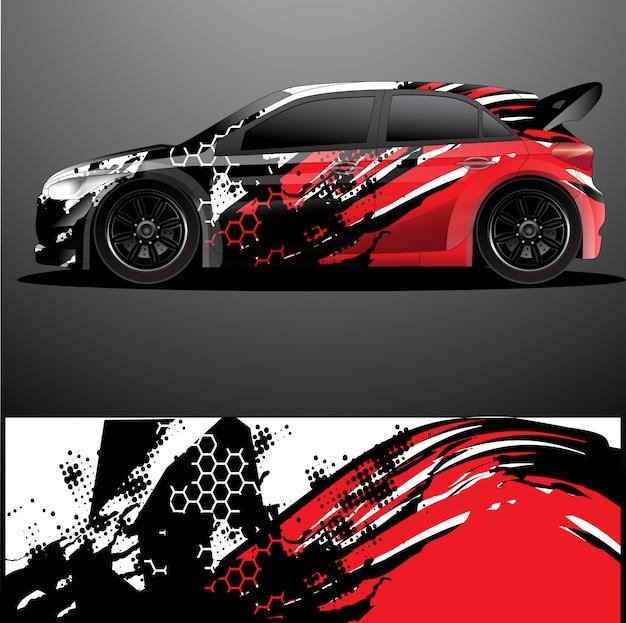Rallye auto aufkleber grafik wrap, abstrakter hintergrund