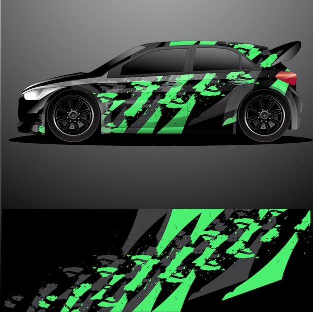 Rallye auto aufkleber grafik wrap, abstraktes design