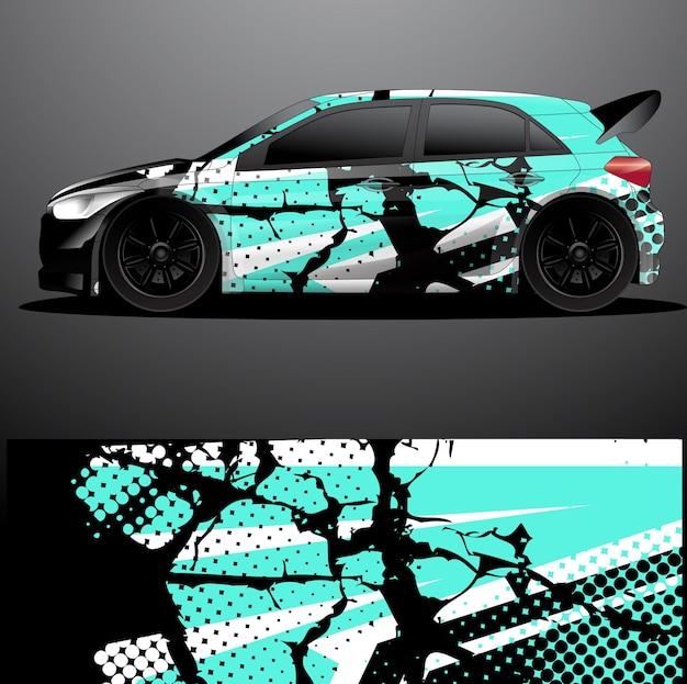 Rallye auto aufkleber grafik wrap vektor abstrakten hintergrund