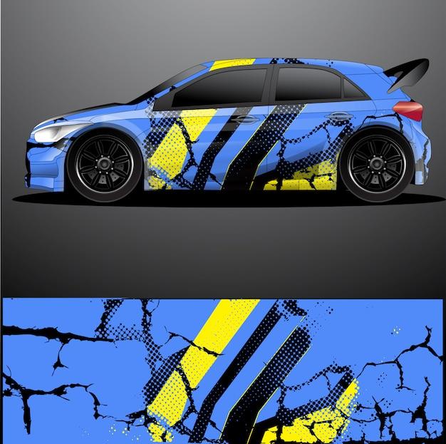Rallye auto aufkleber grafik wrap vektor, abstrakter hintergrund