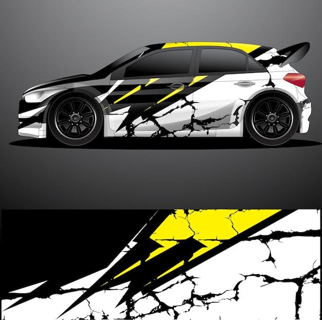 Rallye auto aufkleber grafik wrap
