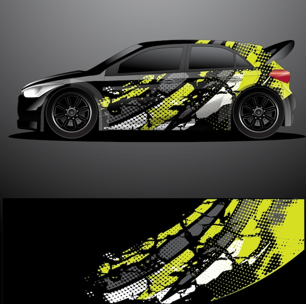 Rallye auto aufkleber vorlage