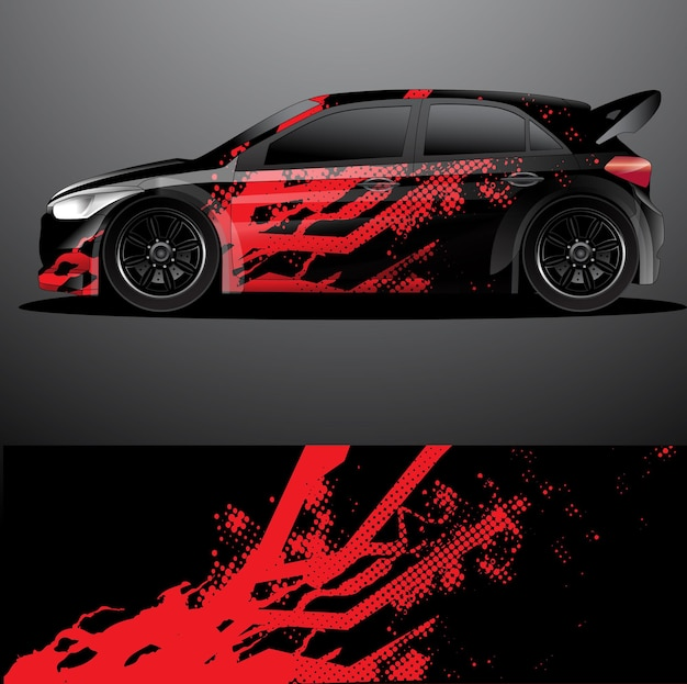 Rallye auto aufkleber wrap