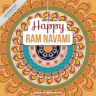 Ram navami hintergrund im abstrakten stil