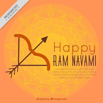 Ram navami hintergrund mit pfeil und bogen