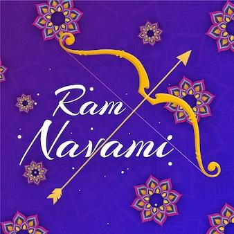 Ram navami in flachem design