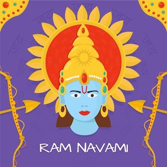 Ram navami mit hinduistischem gott