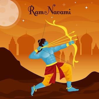 Ram navami mit männlichem bogenschützen