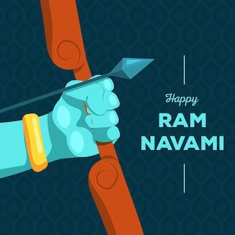 Ram navami mit pfeil und bogen