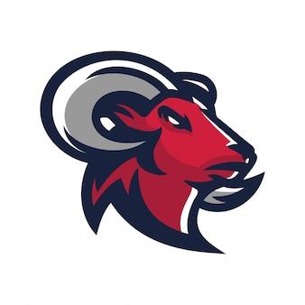 Ram, ziege esport gaming maskottchen logo vorlage