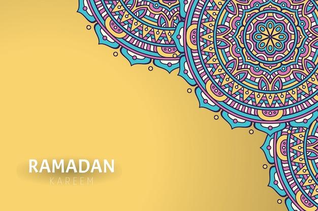 Ramadam kareem hintergrund mit mandala ornamenten