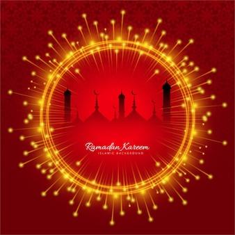 Ramadam kareem roten hintergrund