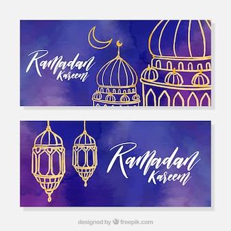 Ramadan aquarell banner