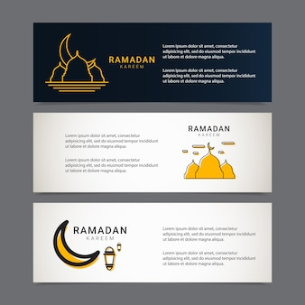 Ramadan-banner-design-vorlage goldene islamische verzierung