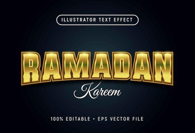 Ramadan bearbeitbarer texteffekt