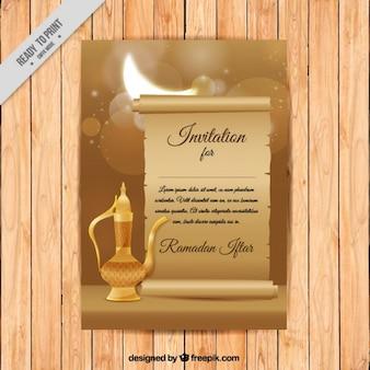 Ramadan-einladung mit teekanne
