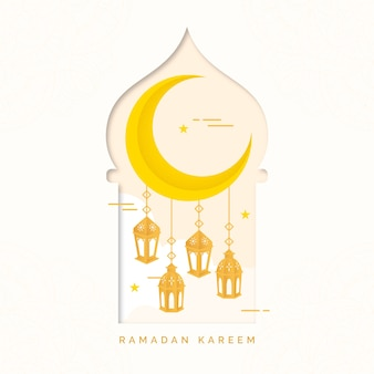 Ramadan event flachen stil