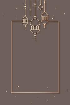 Ramadan gestaltete hintergrunddesign