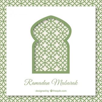 Ramadan hintergrund mit arabischen tür