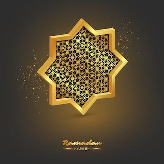 Ramadan kareem 3d achteck.