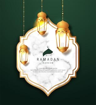 Ramadan kareem arabische kalligraphie-bannerentwurf. übersetzung des textes 'ramadan kareem' feier ramadan kalligraphie, marmor hintergrund.