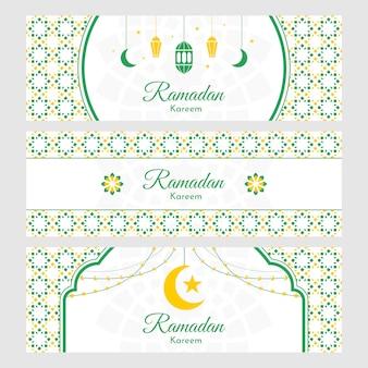 Ramadan kareem banner hintergrund design