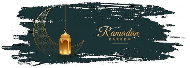Ramadan kareem banner im aquarellstil design